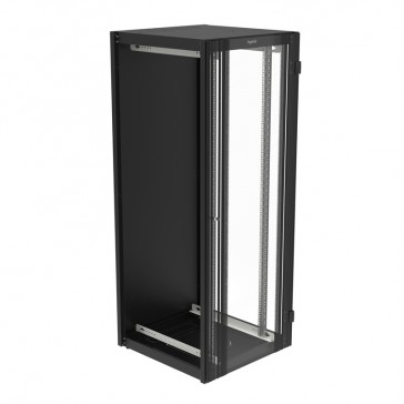 "Linkeo 19"" extension cabinet with single glass door - capacity 42U - dimensions 2026x800x800 mm - flatpack"