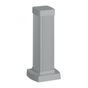 Snap-on mini-column - 1 compartment 2 sides - height 0.30 m - aluminium body and covers - aluminium finish