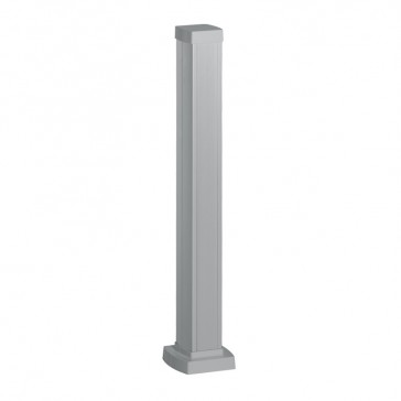 Snap-on mini-column - 1 compartment 2 sides - height 0.68 m - aluminium body and covers - aluminium finish