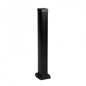 Snap-on mini-column - 1 compartment 2 sides - height 0.68 m - aluminium body - PVC covers - black finish