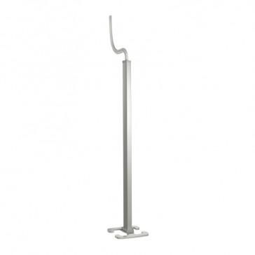Snap-on movable column - 2 compartments - height 2 m - aluminium body and covers - aluminium finish
