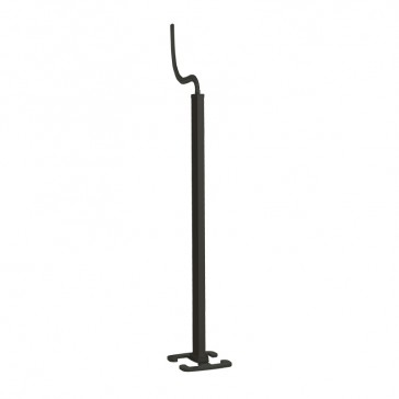 Snap-on movable column - 2 compartments - height 2 m - aluminium body - PVC covers - black finish