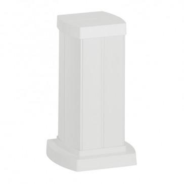 Snap-on mini-column - 4 compartments - height 0.30 m - aluminium body - PVC covers - white finish