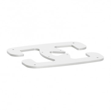 Movable foot for 1 or 2 compartments mini-columns - white finish