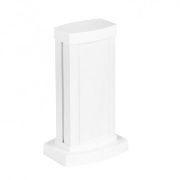 Universal mini-column - 1 compartment - height 0.30 m - aluminium body and covers - white finish