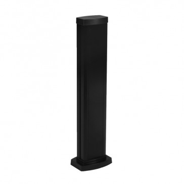 Universal mini-column - 1 compartment - height 0.68 m - aluminium body and covers - black finish