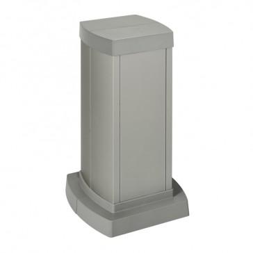 Universal mini-column - 2 compartments - height 0.30 m - aluminium body and covers - aluminium finish