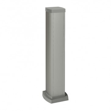 Universal mini-column - 2 compartments - height 0.68 m - aluminium body and covers - aluminium finish