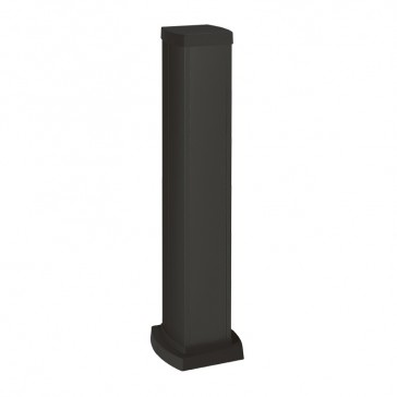 Universal mini-column - 2 compartments - height 0.68 m - aluminium body and covers - black finish