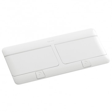 Pop-up flush-mounting box to be equipped - 8 (2x4) modules - glossy white