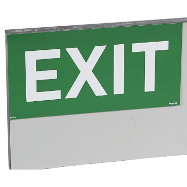 "Label - for emergency lighting luminaires - ""EXIT"" - 127 x 254 mm"