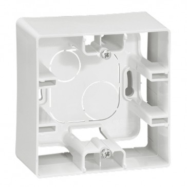 Surface mounting box Niloé - 1 gang - white
