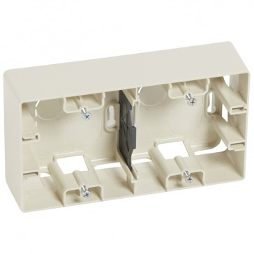 Surface mounting box Niloé - 2 gang - ivory