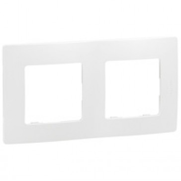Plate Niloé - 2 gang - white
