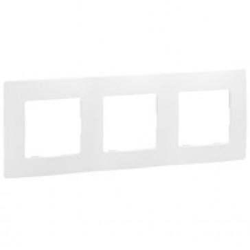 Plate Niloé - 3 gang - white