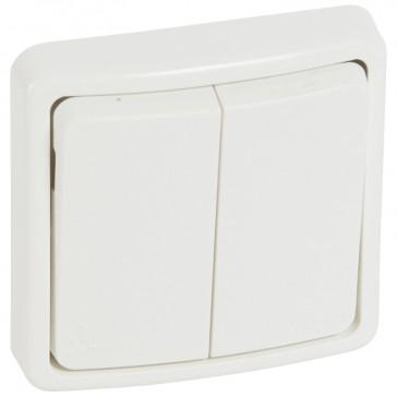 Switch Plexo 66 - 2 gang - 2 way - 20 A 250 V~ - flush mounting