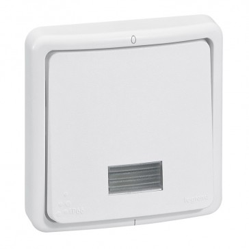 Switch Plexo 66 - 1 gang - 1 way Double pole + indicator - 20 A 250 V~ - flush mounting