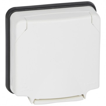 Adaptor Mosaic- Plexo 66 - 2 modules - opaque lid - flush mounting