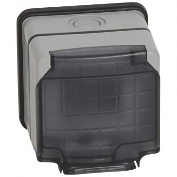 Adaptor Mosaic - Plexo 66 - 2 modules - semi transparent lid - grey