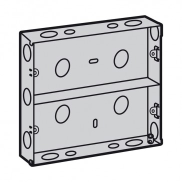 Flush-mounting box - for British standard plates and frames - 2 x 6 modules
