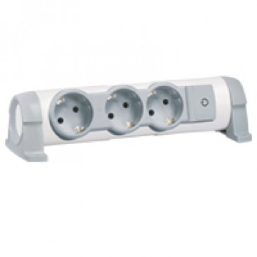 Multi-outlet extension for comfort - 3x2P+E orientable - without cord
