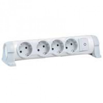 Multi-outlet extension for comfort - 4x2P+E orientable - without cord