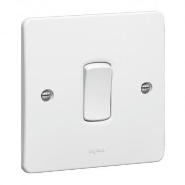 Single pole switch Synergy - 1 gang - 1 way 20 AX 250 V~ - white
