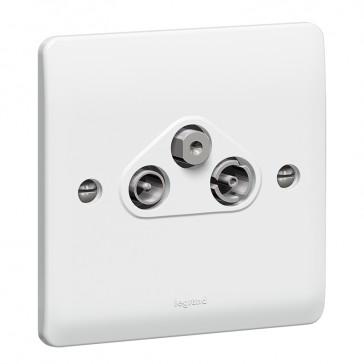 TV-R-SAT socket Synergy - ''F'' type - white