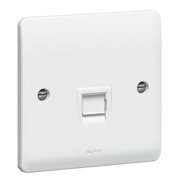 Telephone socket Synergy - UK secondary - white