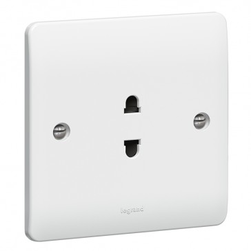 Socket outlet Synergy - Euro-US standard - 1 gang unswitched - white