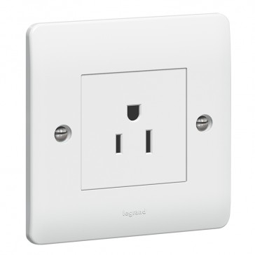 Socket outlet Synergy - 1 gang unswitched SASO - 15 A - 127 V~ - white