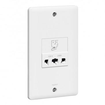 Shaver socket Synergy - 240 V - 120 V~ - 50/60 Hz - white