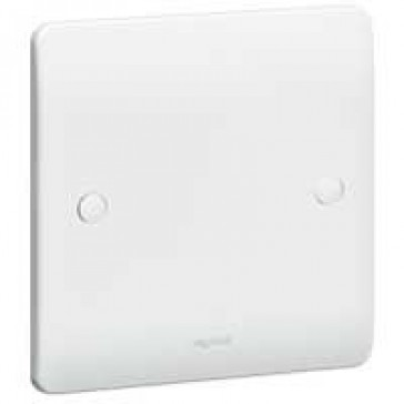 Blanking plate Synergy - 1 gang - 86 x 86 mm - white