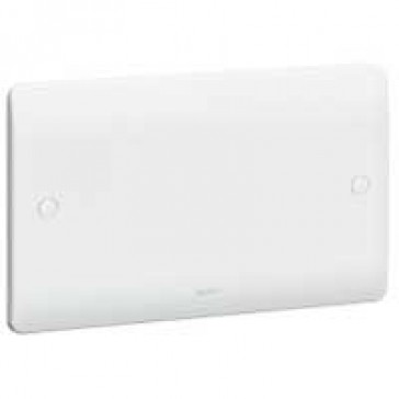Blanking plate Synergy - 2 gang - 86 x 146 mm - white