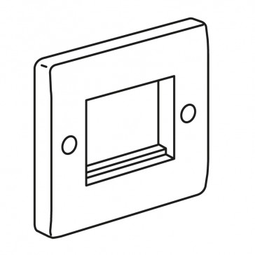 Euro modules front plate Synergy - 1 gang - 86 x 86 mm - white