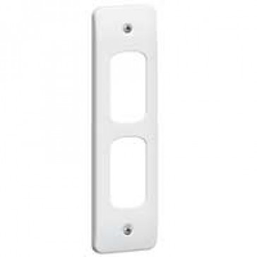 Front plate Synergy - for 2 Grid modules - architrave - white