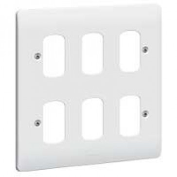 Front plate Synergy - for 6 Grid modules - 2x2 gang - white