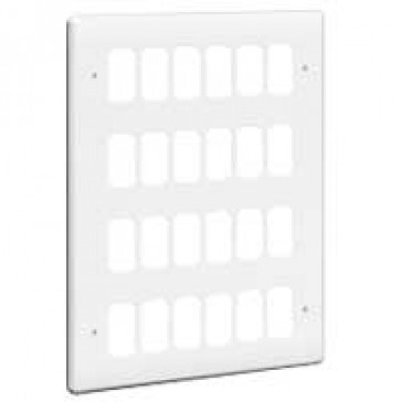 Front plate Synergy - for 24 Grid modules - 4x3 gang - white