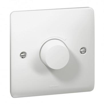Rotary dimmer Synergy - 1 gang - 5 W/ 300 W- 100/240 V~ - 50/60 Hz - white