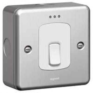 Double pole switch Synergy - Double pole + indicator - 20 A 250 V~ - metalclad
