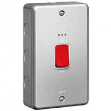 Double pole switch Synergy - Double pole + indicator - 45 A 250 V~ - metalclad