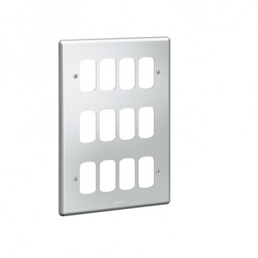 Front plate Synergy - for 12 Grid modules - 3x2 gang - metalclad