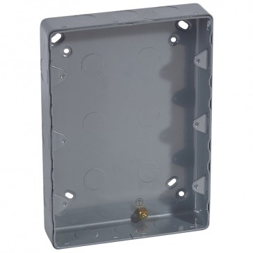 Surface mounting box Synergy - steel - 3x2 gang - with knockout