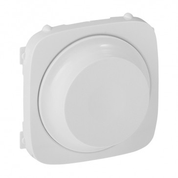 Cover plate Valena Allure - rotary dimmer without neutral 300 W- white