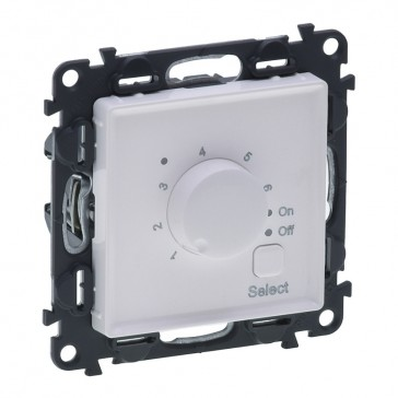 Cover plate Valena Life - floor heating thermostat - with mechanism - white