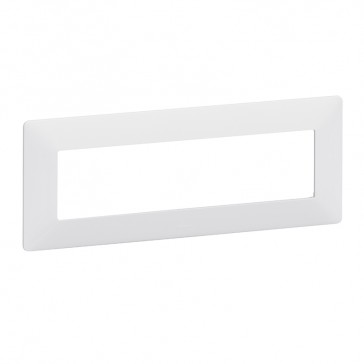 Support frame with plate Valena Life - 4 x 2 modules - white