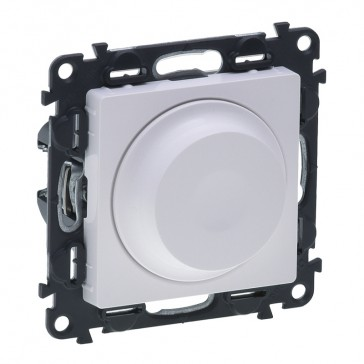 Rotary dimmer Valena Life - 240 V~ - 50 Hz - with cover plate - white