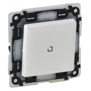 Illuminated one-way switch Valena Life - 10 AX 250 V~ - IP44 - white