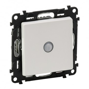 Energy saving switch Valena Life - 10 AX 250 V~ - with cover plate - white