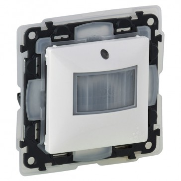 Motion sensor Valena Life - 250 W- IP44 - with cover plate - white